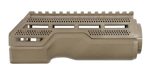 A*B ARMS MOD1 Hand Guard FDE -  2 Piece Drop-In, Carbine Length, Integrated Top Picatinny Rail