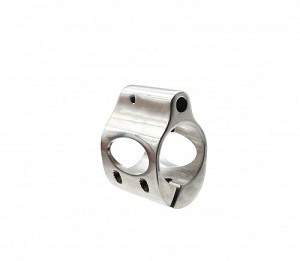 Low Profile Stainless Steel Micro Gas Block  Clamp-on Design