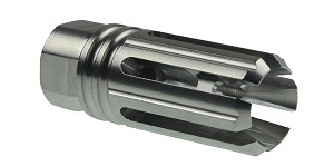 Recoil Technologies AR-15  6 Port Muzzle Brake, Stainless Steel USA Made