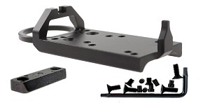 Glock Rear Sight Red Dot Conversion Plate - Black