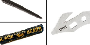 Tactical Gift Box CRKT, K.E.R.T. Key Ring Emergency Tool + Black Beard Fire Starters + Aluminum Tactical Pen