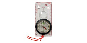 Ultimate Survival Technologies, Compass, Extended Clear Base Plate for Improved Map Reading