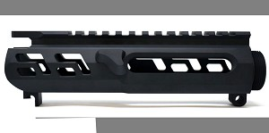 War Dog Industries AR-15 Skeletonized Stripped Upper Receiver - Black Cerakote