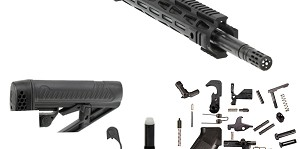 "Aero Precision M5 ""Creed"" Complete LR-308 Rifle Kit 18"" Match 6.5 Creedmoor 1:8T 416R Stainless Black QPQ Nitride Heavy Barrel 15"" X-Mod M-LOK Handguard"