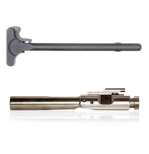 Prime Weaponry Lr-308 Complete Bolt Carrier & Charging Handle Combo Bolt  Has High Polish Nickel Boron PW1 Finish **Fits All  308 Win, 6 5 Creed,243