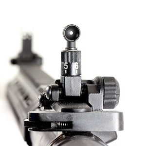 JE Machine Products Ar-15 Lr-308 Premium Flip Up Sight Set For Same Plane Height   ** Fits All Picatinny Rails**