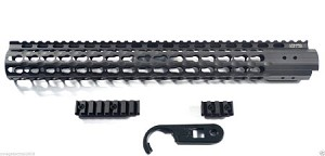 "Leapers UTG Pro 15"" Rail - Super Slim Free Float KEY MOD KeyMod"