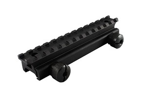 Omega Manufacturing AR-15 Optics Riser Aluminum Mount 3/4 Inch (For Raising Optics Above AR Front Sight)