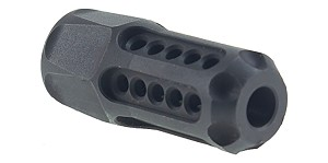 Helius Tactical Delta Team Tactical Laser Engraved 1/2X28 Hexagonal Muzzle Brake with Circle Ports