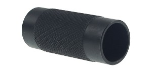 Recoil Technologies Steel Flash Can, 1/2x28, Black Oxide Muzzle Brake