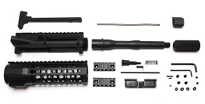 "Anderson MFG. Ar-15 Pistol 7.5"" Complete Upper Kit 5.56 Nato Nitride Barrel 7"" Keymod Handguard Includes Charging Handle"
