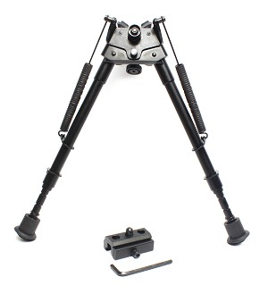 "Vector Optics  9"" to 13"" Swivel Bipod With Rail Adaptor & Picatinny Mount"