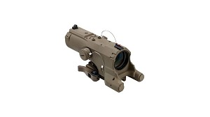 VISM ECO 4x34 Urban Tactical Reticle Green Laser Scope TAN FDE with Navigation Lights
