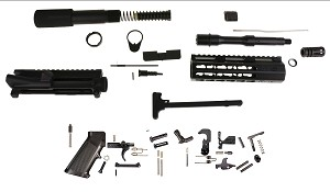 "Davidson Defense ""Extreme"" Complete Pistol Kit 7.5"" 5.56 Nato XX-Treme Barrel 7"" Super Slim Keymod Handguard Everything But The Lower & BCG!"