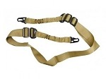 AR-15 Two-Point Tactical Bungee Sling With HK Clips - Tan