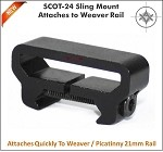 Vector Optics Sling Mount - Mounts Directly to Weaver / Picatinny Rail SCOT-24
