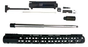 "Davidson Defense Complete Unassembled Match Upper Kit 16"" AR-15  W/ 16.5"" Inch Super Slim Keymod Handguard and Blast Forwarder"